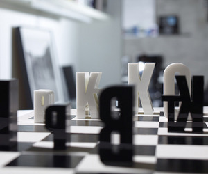 Typographic Chess Set Is Letter Perfect | Hat Trick