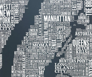 Typography Maps by Bold and Noble