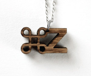 Typography Necklaces by Afloat Studios