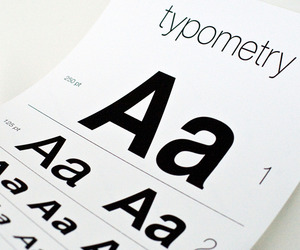 Typometry – a typographic eye chart.