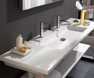Ultra-modern flat bathroom sinks by Laufen