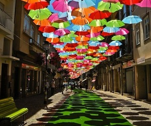 Umbrella Art Installation in Portugal