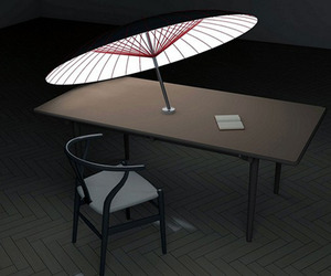 Umbrella- Solar Day Shade & Night Light by Yang Ze-Siao