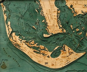 Underwater Wood Charts: Topographic Maps