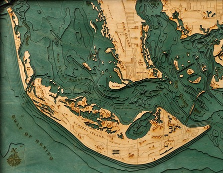 Underwater Wood Charts Topographic Maps