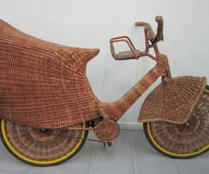 Unique Bicycle From Natural Fibers By Jarbas Lopes