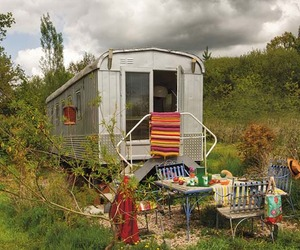 Unique Bohemian trailer home in France