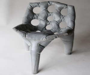 Unique Chair-Cast Concrete