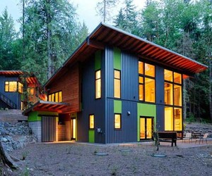 Unique Forest Home with a Colorful