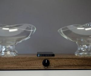 Unique Glass Bowl Audio Speakers