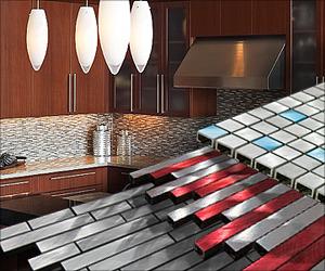 Unique Glass & Metal Mosaic Tiles
