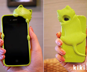 Unique iPhone 4S/4 Cover: A Kitten Holds Your Phone
