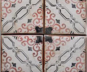 Unique new line of hand-painted terra cotta tiles