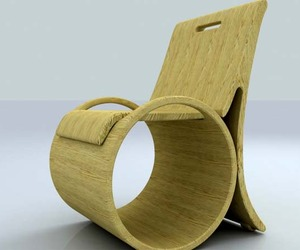 Unique Wooden Chair by Wenshuai Liu