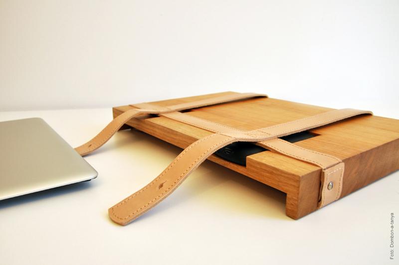 Unique Wooden Laptop Case by TheBetaVersion