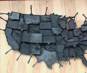 United States of Cast Iron Skillets by Alisa Toninato