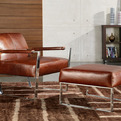 Uno Accent Leather Chair by Moroni