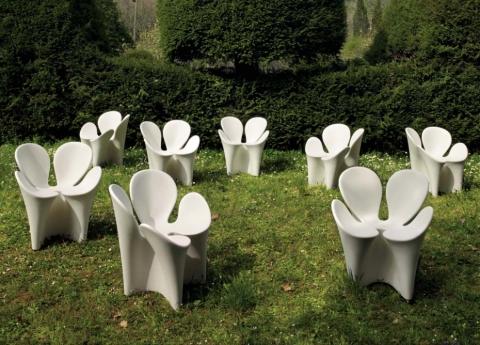 unusual clover garden chair by ron arad - Garden Furniture Unusual