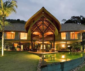 Unusual tropical leaf house