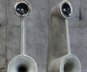 Unusually cool concrete loudspeakers