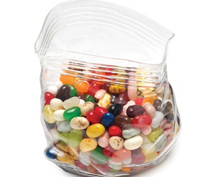 Unzipped Glass Bag Bowl