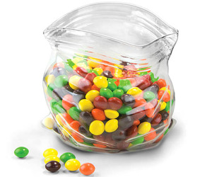 Unzipped Glass Snack Jar