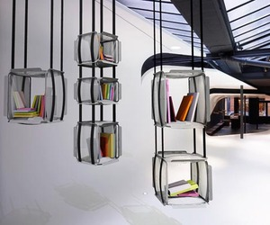 Upside Down Bookcase by Adrien De Melo