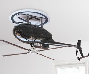 Upside Down Helicopter Ceiling Fan