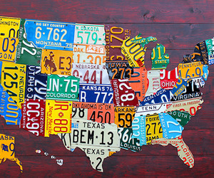 U.S. License Plate Map by Design Turnpike