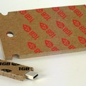 USB-sticks made of cardboard