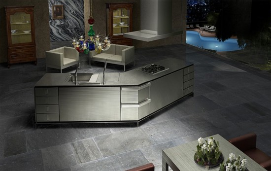 V shape kitchen by toyo for Modern japanese kitchen design by toyo kitchen