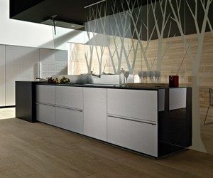 Valcucine's Titanium Finish Kitchen