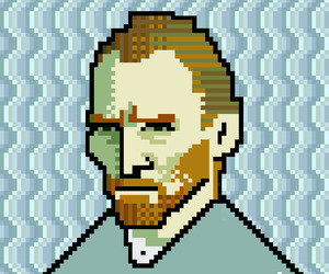 Van Gogh Pixel-art by Jaebum Joo