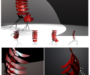 Vertebrae chairs by Parker Hatfield