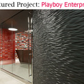 Vertical Surface:  Playboy Enterprises Lobby