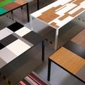 Vibeke Fonnesberg Schmidt, tables from industrial leftovers
