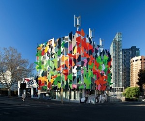 Vibrant Facade of Uber Sustainable Pixel Building