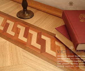 Victorian II Hardwood Floor Border Inlay | Pavex Parquet
