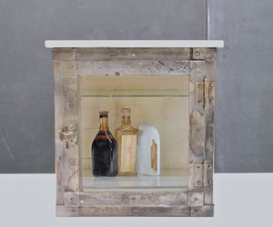 Victorian Industrial Age Apothecary Display Cabinet