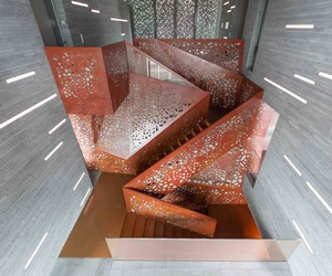 Villa Mallorca's Perforated Copper Staircase by Arup