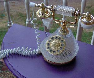 Vintage Princess GLASS telephone