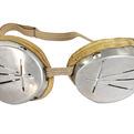 Vintage Aluminum Military Ski Goggles