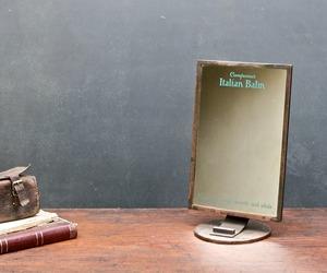 Vintage Art Deco Compana Balm Mercantile Store Vanity Mirror