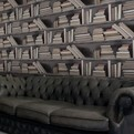 Vintage Bookshelf Wallpaper