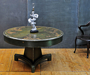 Vintage Chinese Relief Motif Dining Table, c.1900.