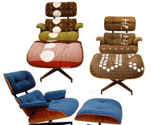 Vintage Eames Lounge Chairs Get Maharam Makeovers.