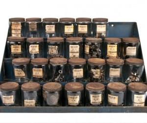 Vintage Four-Tier Automotive Parts Jar Storage Shelf