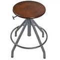 Vintage French Adjustable Drafting Stool at Relique.com