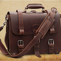 Vintage Handmade Leather Briefcase