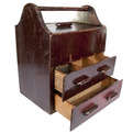 Vintage Handmade Wood Tool Box at Relique